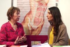 Rencontre avec Blandine Calais-Germain au Colloque de Respirologie, 2015
