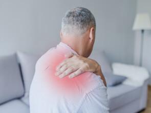 Le haut des omoplates, points douloureux caractéristiques